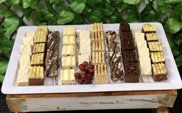 Cakes and slices platter