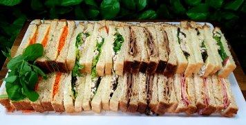 Finger sandwiches platter