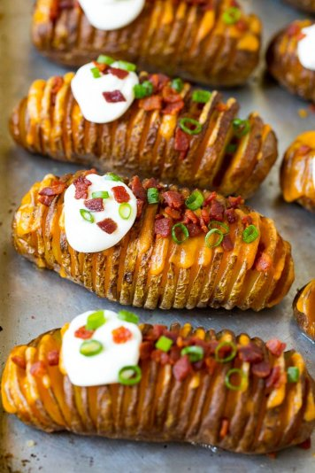 Hasselback loaded potato